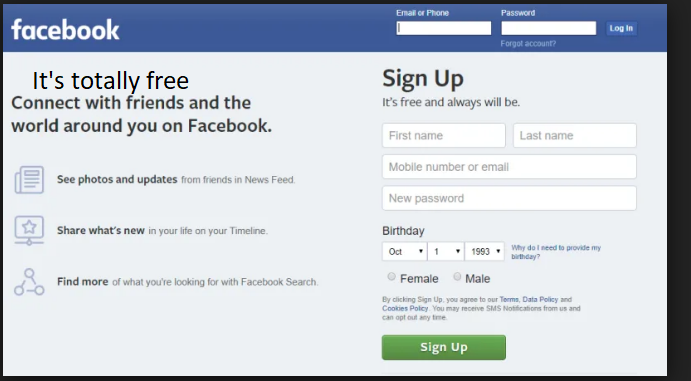 Facebook Account Sign in