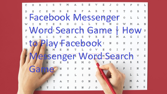Facebook Messenger Word Search Game
