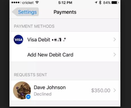 facebook payment app