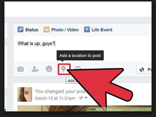 how to add facebook location.