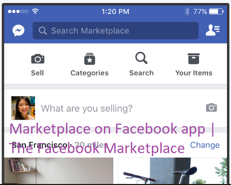 marketplace on facebook app