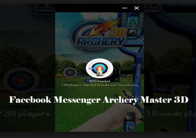 Facebook Messenger Archery 3D Game
