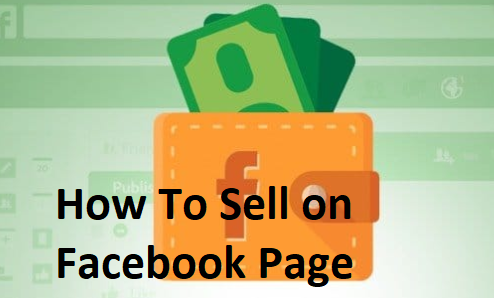 how to sell on facebook page