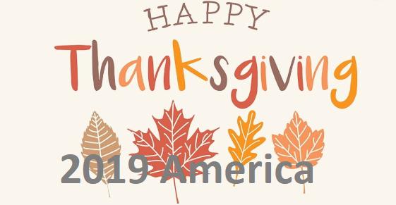 Thanksgiving 2019 America