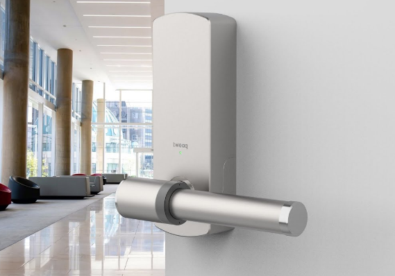 Check out this Cool Smart Self-Cleaning Door Handle in Action!