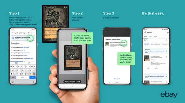 How to Scan Pokemon Trading Card using eBay's App