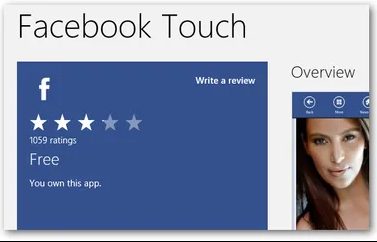 Touch Facebook app for Andriod